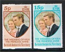 British Antarctic 1973 Royal Wedding SG 59/60 MNH