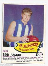 1966 Scanlens # 11 Bob PASCOE North Melbourne