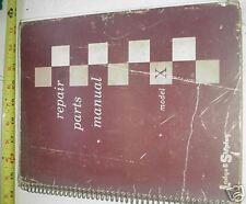 Lodge Shipley Model X Lathe Repair Parts Manual