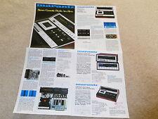 Marantz 1977 Cassette Brochure, 4 pg, 5420,5220,5120, Specs, Articles, Pics,INFO
