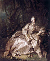 Nice Oil painting francois boucher Lady Madame de Pompadour in forest canvas 36""