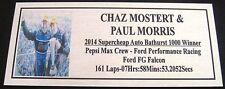 2014 Bathurst  Chaz Mostert & Paul Morris Podium 140x60mm F/Postage