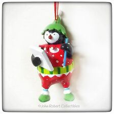 DEPT 56 CHRISTMAS PENGUIN ON THE MOVE MAKING A LIST ORNAMENT