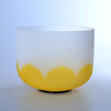 "8"" E Solar Lotus Yellow Chakra Crystal Quartz Singing Bowl Heal Stone X-mas"