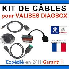 Kit COMPLET de CÂBLES pour VALISES DIAGBOX LEXIA PP2000 PSA PEUGEOT CITROEN