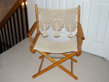 Macrame Directors Chair - Never used - Great item for Spring! JUST REDUCED!