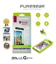 PureGear HD Clarity Tempered Glass Screen Protector (w Install tray) LG G7 ThinQ