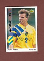 Roland Nilsson .. Schwedischer  Nationalspieler ...  Signierte Upper Deck Karte