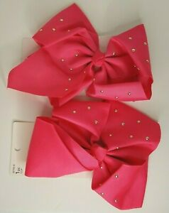 Scunci Jumbo Pink Hair Bows Lot Of 2 NEW #32753-A