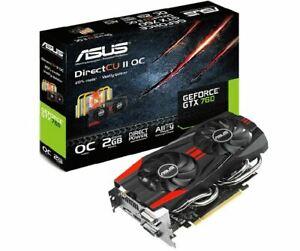 ASUS NVIDIA GeForce GTX 760  2 GB  GK104 Video Card 2G D5 256bit 2GB HDMI 2×DVI