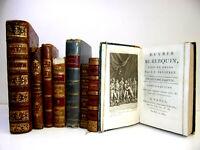 Bon lot livres reliés XIIIe. Philosophie Condillac, César, Collin d'Harleville.