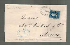 1877 San Luis Potosi Mexico Letter Cover to Mexico City