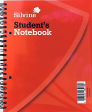 """Students Spiral Notebook 8""""x6"""" Lined Silvine 120 Pages NarrowFaint Fast Despatch"""