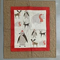CHRISTMAS CHILDS QUILT WALL HANGING ARTIC ANIMALS 28X32