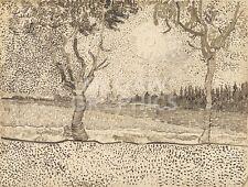 """vAN GOGH VINCENT - BOATS AT SAINT-MARIES, 1888-ART PRINT POSTER 11"""" X 14"""" (1713)"""