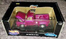 1999 1:43 Scale Hotwheels Cool Classics Series 1955 Ford Pick-up Truck Purple