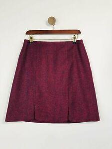 Boden Women's Tweed Wool Pencil Skirt   UK10   Red