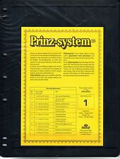 10 Prinz System 1  strip Single sided Pages stock sheet