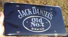 Jack Daniels Laser Cut Mirror License Plate Tag Chrome inlaid acrylic Old no. 7
