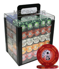 1000pc 14G CASINO CLAY POKER CHIPS SET ACRYLIC CASE Y9