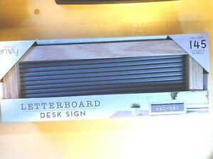 Office Envy Letterboard Desk Sign With 145 Letters and Symbols