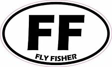 Fly Fisher Trout Salmon Fishing Vinyl Sticker Decal *FREE SHIPPING*