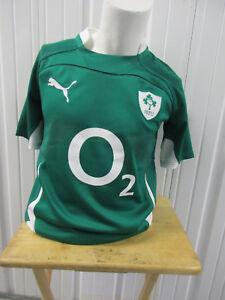 VINTAGE AUTHENTIC PUMA IRFU IRELAND RUGBY FOOTBALL UNION MEDIUM SEWN JERSEY