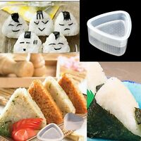 2x White Sushi Mold Onigiri Rice Ball Bento Press Maker Mould DIY Tool Kit