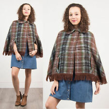 Check Button Casual Poncho for Women