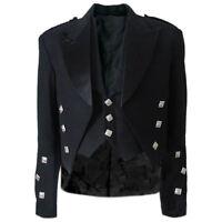 Tartanista Scottish Black Prince Charlie Kilt Jacket & Waistcoat 36 - 58 R & L