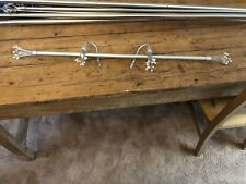 85cm Curtain Pole with Fancy Ends & Tie Backs