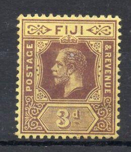 FIJI  STAMP 1922-7 3D  KING GEORGE V MINT NEVER HINGED A SUPERB STAMP