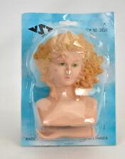 Vintage Plastic Girl Head Bust Plastic