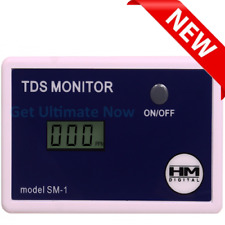 HM Digital SM-1 In-Line Single TDS Monitor, 0-9990 ppm Range, +/- 2% Readout
