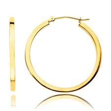 Snap Closure Hoop Yellow Fine Earrings