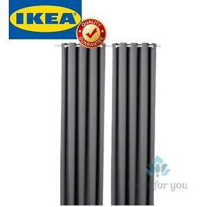 "IKEA HILLEBORG Blackout Curtains 1 Pair Gray 57x98 """