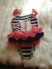 Girls 4-5 years Peppa pig Tutu Frill Swimsuit Swimming Costume next day