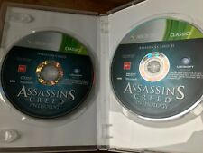 ASSASSINS CREED DOUBLE PACK XBOX 360 PAL VGC INCLUDES PART 1 & 2 DISCS ONLY