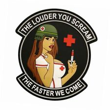Louder You Scream Faster Military Medic Pinup Girl Patch (3D-PVC MTB44)