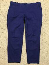 J CREW CAFE CAPRI BLUE Cropped PANTS size 14 Style #57064  A7