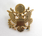 WWII US ARMY MILITARY OFFICERS CAP EAGLE  BADGE INSIGNIA
