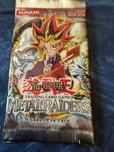 Yu-Gi-Oh! English 1st Edition Metal Raiders Booster Pack New Never Opened
