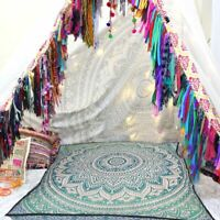 "35"" Indian Square Mandala Cushion Cover Meditation Floor Pillow Covers Throw"