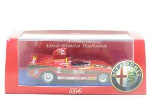 M4 Model Cars YR 18774 Alfa Romeo 33.3 1971 Prova #2 Red 1 43 Scale Boxed