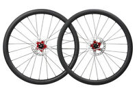 Disc brake Carbon Wheelset Clincher Road Bike Wheels 700C Floating Rotor 40mm