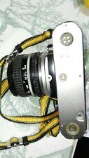 Nikon FM cromo fotocamera reflex meccanica+ 2 obbiettivi usata pellicola