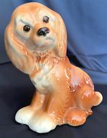 Vintage Royal Copley Cocker Spaniel Puppy Dog Vase Planter - Great!