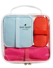 KATE SPADE NEW YORK COSMETIC Bag Train Case SET OF 4 - TRAVEL TOILETRY BAG