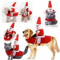 Weihnachtsmann Haustier Hund Katze Kostüm Weihnachten Hundejacke Winter Mäntel