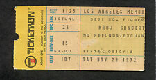 1972 Kroq Rock Festival Eagles Sly Stone Bee Gees Wonder Concert Ticket Stub La